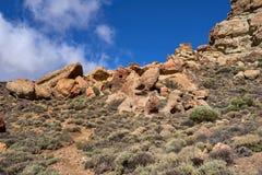 Teide National Park Roques de Garcia in Tenerife at Canary Islands. Teide National Park.Roques de Garcia Teide National Park stock image