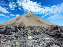 Teide National Park in Tenerife at Canary Islands Royalty Free Stock Images