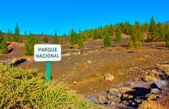 The Teide national park in Tenerife Royalty Free Stock Photo