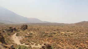 Teide National Park in Tenerife at Canary Islands stock video footage