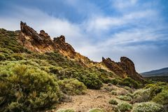 Teide National Park on Tenerife island in Spain Stock Image