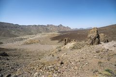 Teide Nationalpark Llano de Ucanca lizenzfreies stockfoto