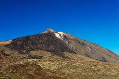 Teide nationalpark, Tenerife, kanariefågelöar - turist- informativt tecken som visar Montana Blanca som fotvandrar slingan av Tei Royaltyfria Foton