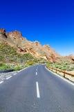 Teide nationalparkväg Royaltyfria Bilder