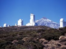Teide observatory, Tenerife. Royalty Free Stock Photography