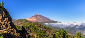 Teide Panoramic Royalty Free Stock Photos