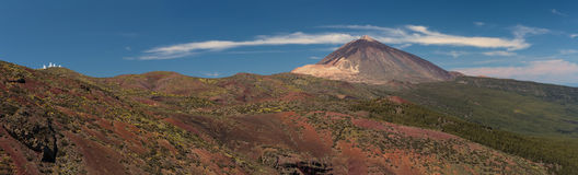 Teide. Panoramic view of Teide National Park Royalty Free Stock Image