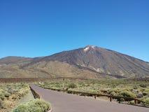 The Teide from the Parador hotel Stock Photos