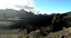 Teide park narodowy na burzowym dniu Obraz Royalty Free