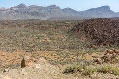 Teide park narodowy zajmuje wysokiego teren wyspa Tenerife w Hiszpania i wyspach kanaryjska fotografia stock