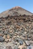 Teide park narodowy zajmuje wysokiego teren wyspa Tenerife w Hiszpania i wyspach kanaryjska obraz royalty free