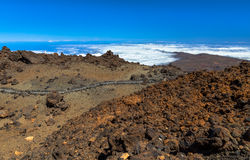 Teide Path Stock Photos