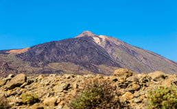 Teide from the Road Royalty Free Stock Photography