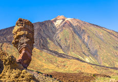Teide and Roque Cinchado Royalty Free Stock Photography
