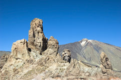 teide roques национального парка el los Стоковое Изображение RF