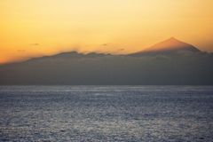 Teide from sea Royalty Free Stock Photo