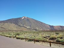 Teide sikter från Paradoren Arkivbilder