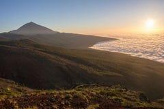 Teide in sunset Stock Photo