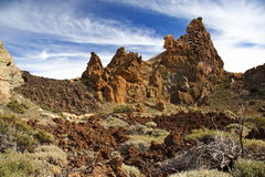 Teide Tenerife. Volcanic landscape on Teide, Tenerife, Spain Royalty Free Stock Photography