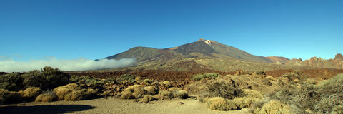 Teide, Tenerife. The majestic summit of the Teide volcano on Tenerife Royalty Free Stock Photos