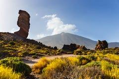 teide tenerife roques национального парка de garcia Стоковое Изображение RF