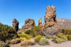 teide tenerife roques национального парка de garcia Стоковые Фотографии RF
