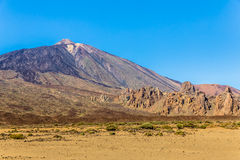 Teide from Ucanca Valley Stock Photography