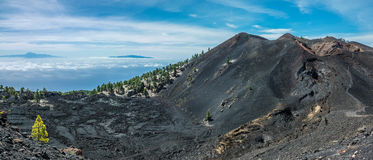 Teide view from La Palma volcanos. Teide view from La Palma Stock Image