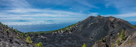 Teide view from La Palma. Volcanos Royalty Free Stock Images