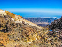 Teide. View of the Mount Teide, the volcano on Tenerife in the Canary Islands, Spain Royalty Free Stock Photo