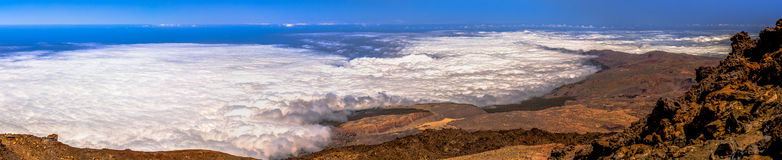 Teide View Panoramic Royalty Free Stock Photography