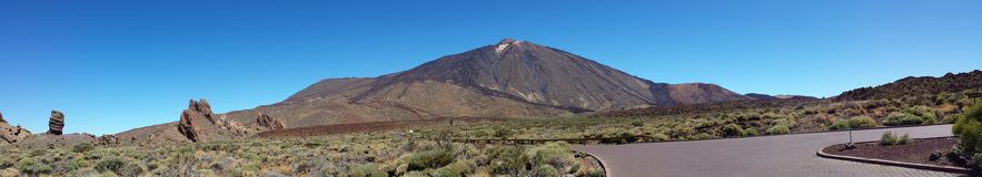 Teide views from the Parador Stock Photography
