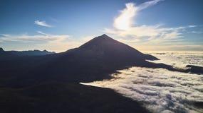 Teide Volcán en Tenerife Las montañas españa foto de archivo libre de regalías