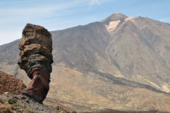 Teide Volcanic High Mountains Stock Image