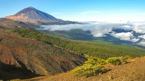 Teide volcano Cinemagraph. Spectacular lookout of Teide volcano National Park in Tenerife, Canary Islands of Spain. Cinemagraph loop background stock footage