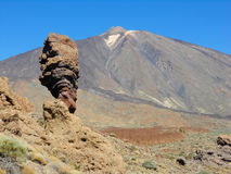 Teide the volcano. Famous Teide the volcano in Tenerife, Spain Royalty Free Stock Photos