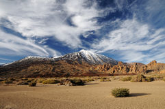Teide volcano from far Royalty Free Stock Photo