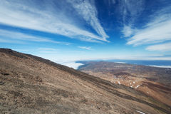 Teide volcano at National Park view from top Royalty Free Stock Photography