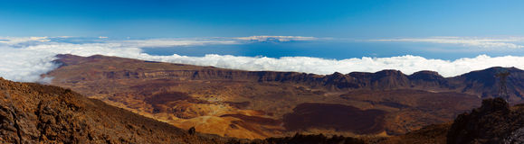Teide volcano on a sunny day Stock Images