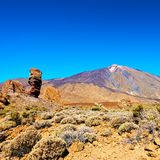 Teide volcano in Tenerife. The Teide volcano in Tenerife, The Canary Islands, Spain Royalty Free Stock Photos