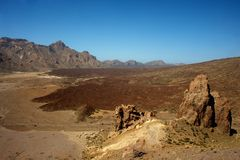 Teide volcano valley Stock Photography