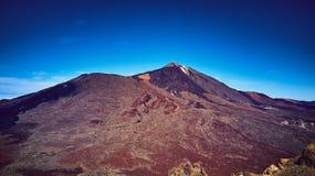 Teide Vulcão em Tenerife spain As montanhas imagens de stock