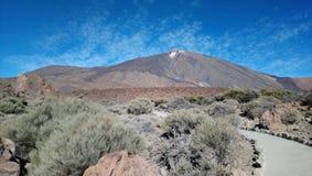 Teide vulcão Tenerife janeiro de 2018 foto de stock