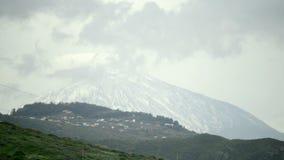 Teide, vulcano di Tenerife stock footage
