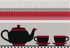 Teiera & tazze. illustrazione vettoriale