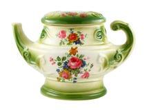 Teiera ceramica d'annata Fotografia Stock