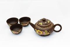 Teiera cinese con la tazza di tè fotografia stock libera da diritti