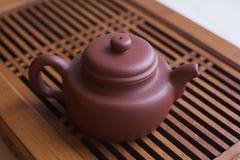 Teiera con tè cinese Fotografie Stock