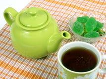 Teiera con una tazza Fotografia Stock
