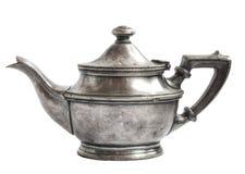 Teiera d'argento antica Immagine Stock